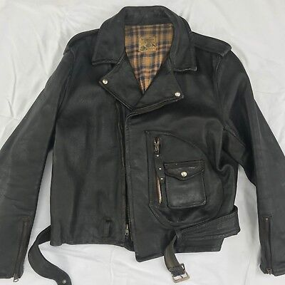 RARE Vintage 1940s BECK NORTHEASTER 333 Horsehide Leather Motorcycle Jacket XL