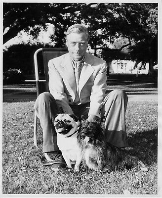 Photo of the Duke of Windsor 8X10 B&W at Belleview Biltmore Hotel w/Dogs 1953