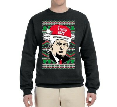 Make Christmas Great Again Trump Ugly Christmas MAGA Sweater USA Sweatshirt
