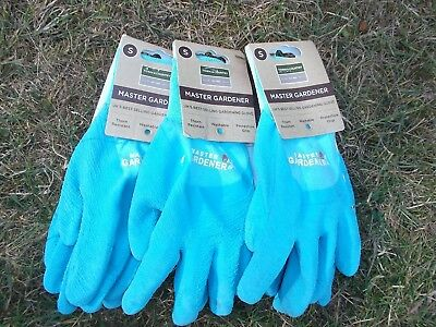 Town & Country Thorn Resistant Master Gardener Gloves S. size 7 x 3 Pairs Blue