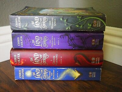 The Land of Stories 4 Book Set by Chris Colfer - Mix Lot Paperback & Hardcover