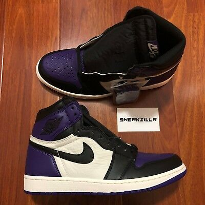 Nike Air Jordan Retro I 1 High OG Court Purple Sail 555088-501 Men 9-13