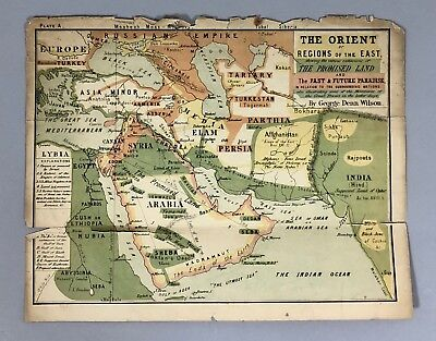 19th Century English Israel Palestine Holy Land 12 tribes Canaan maps Wilson