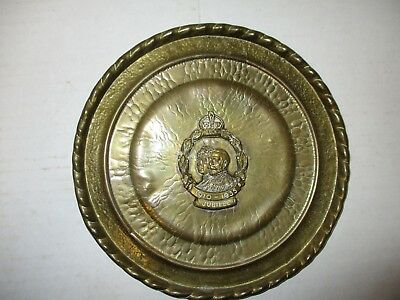 King George V Queen Mary silver jubilee bronze commemorative wall plaque