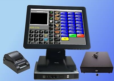 """15"""" Point of sale POS system register Touch screen restaurant retail Bar"""