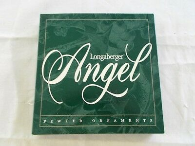 Longaberger  Set Of 4 Pewter Angel Ornaments Unused In Box 1998 #71757