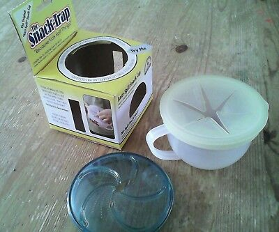 Kids Snack Trap Anti Spill pot & spare lid for large pot.