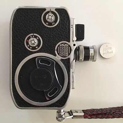 Paillard Bolex c8 cine-camera, 16mm, lenses, Kodalux meter, accessories & bag