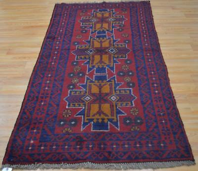 3'5x6'8 New Pakistan Balouch Turkoman Tribal Hand Knotted Oriental Wool Area Rug