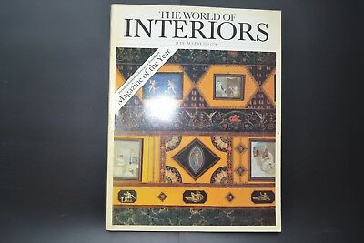 THE WORLD OF INTERIORS, MAGAZINE vintage July - August 1984