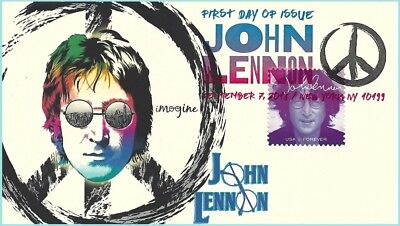 The Beatles John Lennon Therome Cachets First Day of Issue Collector's Cover #2