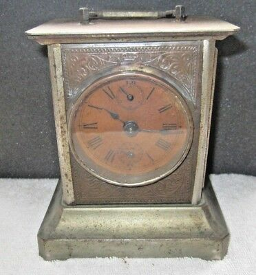 Antique Carriage Clock With Music Box