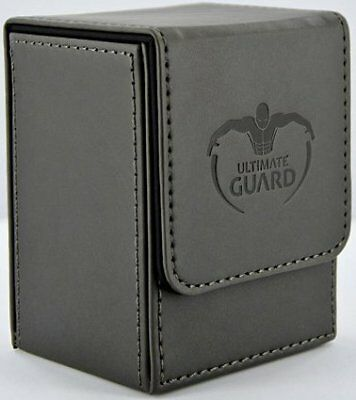 Flip Deck Case 80+ Leatherette Deck Box - Black Ultimate Guard GAMING SUPPLY NEW