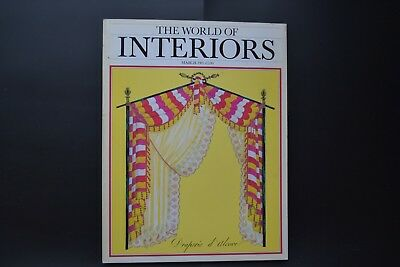 THE WORLD OF INTERIORS, MAGAZINE vintage March 1985