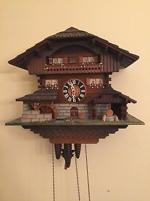 VTG One Day Black Forest CUCKOO CLOCK- GERMANY W Waterwheel Music