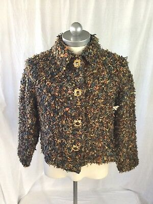Womens NWT ST.JOHN Collection by Marie Gray Multi Colored Boucle Jacket S Small