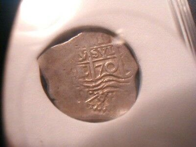 Full 4 Digit Date!  Unknown Shipwreck 1670 Boliva Cob One Real Assayer Erqueta