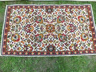 "Axminster carpet & matching rug 100% wool, old 12 ft, x 9ft & 48"" x 27"""