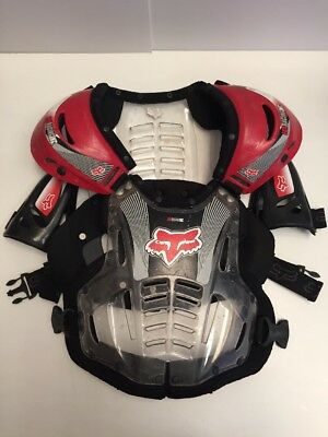 Fox Racing Roost Deflector Chest Protector Motocross Youth Large/Adult Small Red