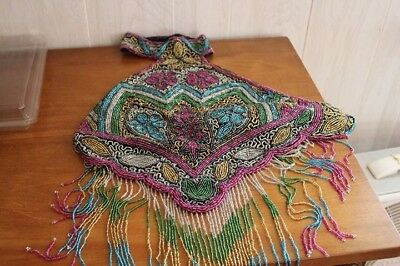Multi Colored halter Top Hand beaded