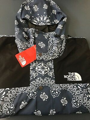 20ad0c23 ... order supreme x the north face tnf bandana paisley mountain jacket blue  l fw14 box 4f763