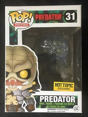 Predator Clear Bloody Hot Topic Exclusive Funko POP