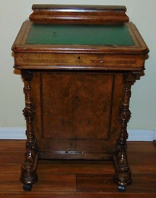 Antique Davenport Desk, Victorian Desk, Burr Walnut Desk, 1800's