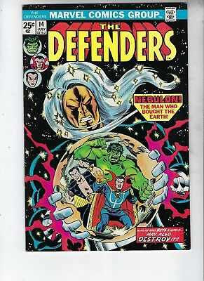 The Defenders 14, VF, NEBULON The Man Who Bought The Earth, Bronze Age