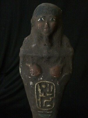 RARE EGYPTIAN ANTIQUITIES EGYPT Ushabti STATUE Shabti Stone Shabties 2600 BCE