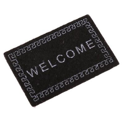 Doll House Miniature carpet WELCOME Mat Dollhouse Accessories Home&Living 1/1 E8