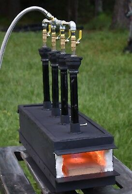 4 Burner propane Forge gas Knifemaking Blacksmith Ferrier sword making!