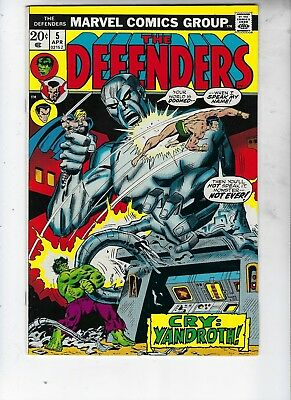 Defenders 5, Near Mint, Cry Yandroth! Really Nice Book, Full Gloss, Bronze Age