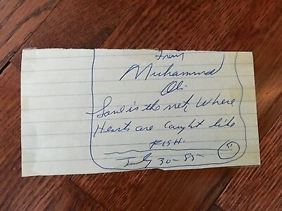 Boxing Legend Muhammad Ali Signed Cut Vintage Rare BECKETT AUTHENTICATED