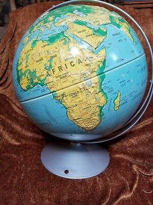 "Nystrom Large 16"" Sculptural Relief World Globe School Map No 39 - 47"