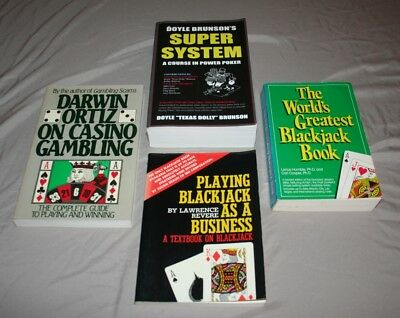 Casino Gambling Book Lot Of 4 Playing Blackjack As A Business Super System Poker