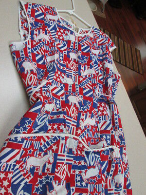 RARE Vintage 1950s~Full~Red/White/Blue~ 1 SIZE FITTS ALL~EXC!handmade