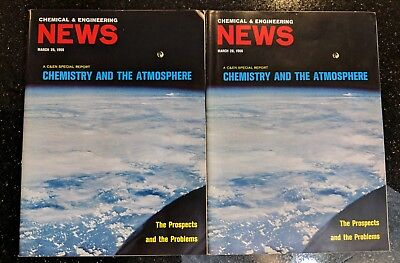 Vintage 1967 Chemical & Engineering News Magazine. Set of 2 Copies.