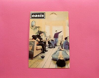 Oasis New Official Postcard Not Patch Shirt Lp Uk Import