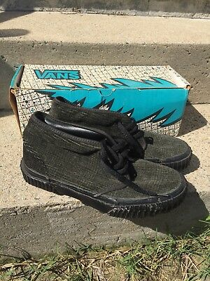 Vintage 90's Vans Chukka Boot W/ Lug Sole Men's Size 7 Made In USA Box Included