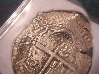 Four Digit Date! 1650 Bolivia Cob 8 Reales + Assayer Roas w/Crowned Countermark