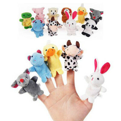 10PCS/Pack Cute Finger Animal Educational Baby Kids Stoy Toys Puppet Cloth Plush