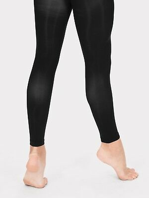 Capelli New York Solid Angora Blend Footless Tight Black Small