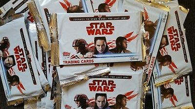 Star Wars JOURNEY TO THE STAR WARS THE LAST JEDI 5 Trading Cards 1 Sealed Pack