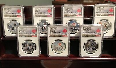2017 Canada Silver NHL Teams Complete Set NGC PF70 First Releases