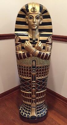 King Tutankhamen Coffin Cabinet - Egyptian Statue - Mummy CD / DVD Cabinet