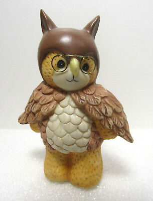 Lucy & Me ~ Wise OWL Brown Bird with Glasses ~ Enesco Figure