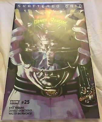 Mighty Morphin Power Rangers Issue #25 Black Ranger Variant Shattered Grid NM
