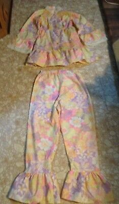 Girls Vintage 2 Piece Outfit, Bell Sleeves, Bell Bottoms
