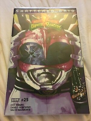 Mighty Morphin Power Rangers Issue #25 Pink Ranger Variant Shattered Grid NM