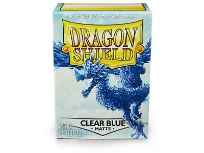 Dragon Shield Mat Clear Blue 100 Protective Sleeves Standard Card Sleeves